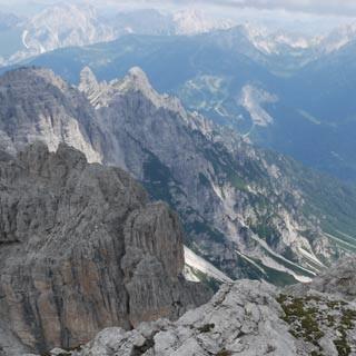 Monte Pramaggiore©Georg Hohenester - Als einer von wenigen Gipfeln im Naturpark lässt sich der Monte Pramaggiore auch von geübten Wanderern besteigen. Vorsicht ist in der brüchigen Ostflanke trotzdem geboten.  Foto: Georg Hohenester