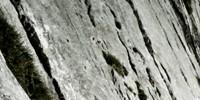 Brett - Am Brett führen Eisenstifte sehr ausgesetzt über eine glatte Felsplatte.