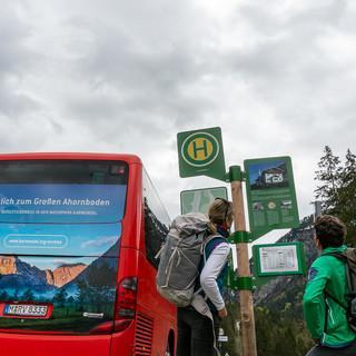 Öffentlich zum Ahornboden - mit dem Bergsteigerbus möglich! Foto: DAV/Tobias Hipp