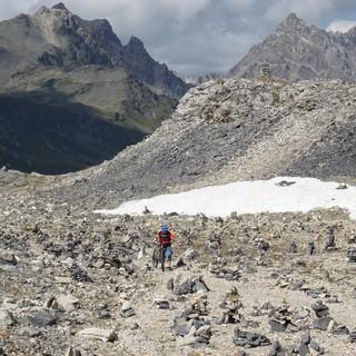 Der Anblick der berühmten Steinmännchen im Vanoise-Nationalpark macht das stundenlange Schieben zum Erlebnis.
