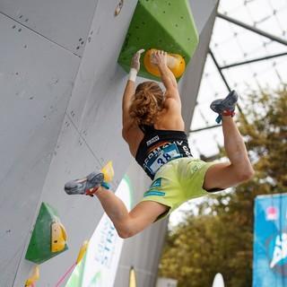 Alma Bestvater beim Boulderweltcup München 2018. Foto: DAV/Marco Kost