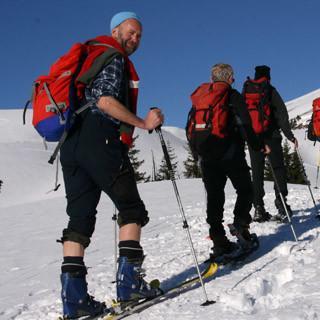 Skibergsteigen umweltfreundlich, Foto: Manfred Scheuermann