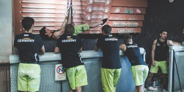 Team Germany beim Training in Tokio, Foto: DAV/Klaus Listl