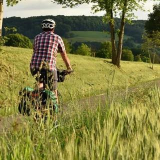 Schwarzwald Panorama-Radweg - Aus den Hügeln – durch die Felder – zum Rhein. Ende einer Ausfahrt. Foto: Thorsten Brönner