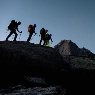 <p>Was für ein Berg: Seine schaufelförmige Form hat dem Piz Badile den Namen gegeben.</p>  <p>Foto: Ralf Gantzhorn</p>