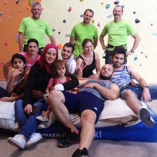 Kletternachmittag mit Flüchtlingen der DAV-Sektion Bad Kissingen, Foto: Sektion Bad Kissingen