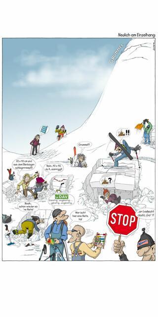 Egal welches Beurteilungs-Tool man verwendet: Fehlentscheidungen haben ihre Ursache meistens im Kopf. Illustration: Georg Sojer