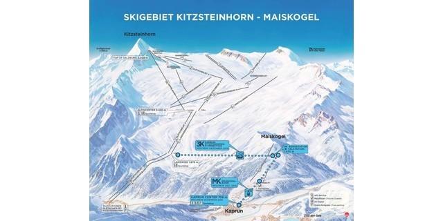 Zusammenschluss des Kitzsteinhorn Gletscherskigebiets mit Maiskogel. Foto: Gletscherbahnen Kaprun AG