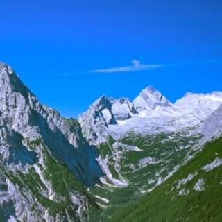 Oberes Reintal - Blick ins obere Reintal mit Hochwanner. Luftbild: Jörg Bodenbender