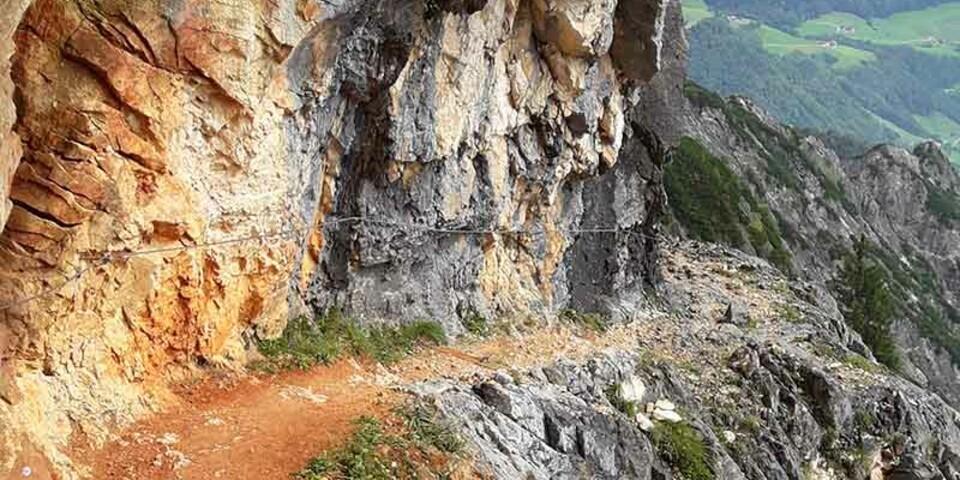 Auf dem Thomas-Eder-Steig in den Berchtesgadener Alpen. Foto: Klaus Gräbe