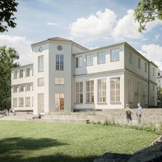 Gartenansicht des Alpinen Museums. Plan: Michael Feil, Regensburg