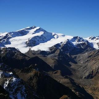 Zufallspitze und Cevedale von der Vorderen Rotspitze aus, Foto: Jonas Kassner