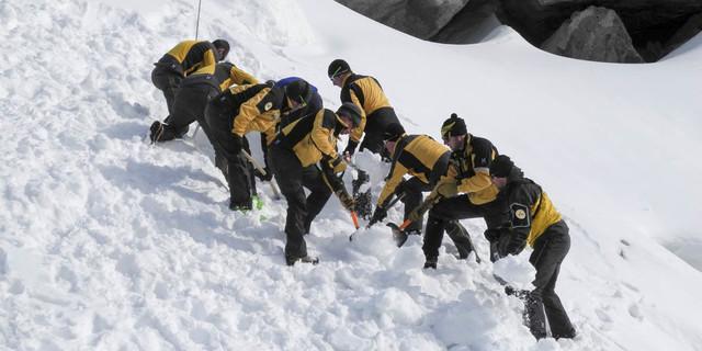 Jährliche Winterrettungsübung der SAC-Rettungsstationen, Foto: zvg Alpine Rettung Schweiz