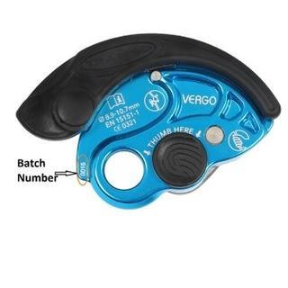 """Von einem Rückruf betroffen: Das Sicherungsgerät """"Vergo"""" der Firma Trango mit der Chargennummer 16159 un 16195. Foto: Trango"""
