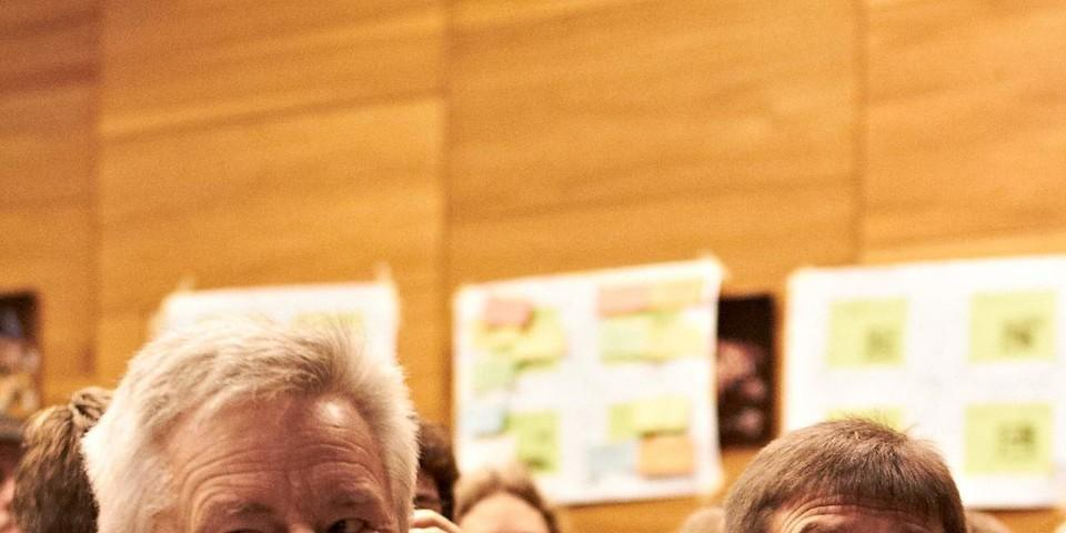 Zwei VIPs: Josef Klenner und Olaf Tabor
