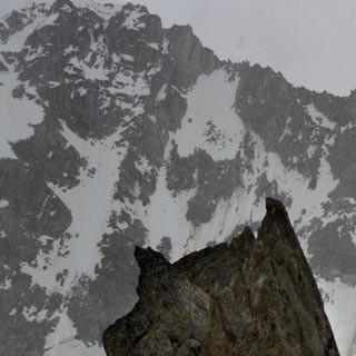 Aiguille d'Orny - Ein kleiner Schneeschauer kann den Genuss an der Aiguille d'Orny nur unwesentlich trüben.