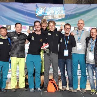 Das deutsche Team nach erfolgreicher Teilnahme beim Paraclimbing Cup in Edinbugh 2017