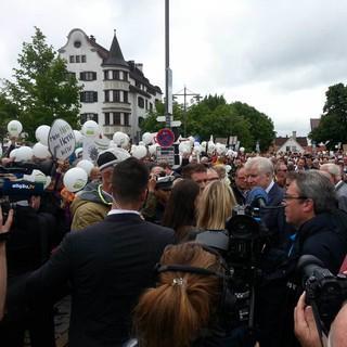 Freundeskreis Riedberger Horn -  Demo in Kempten. Foto: Jens-Peter Kiel