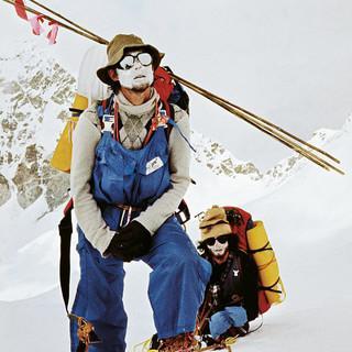 Kurtyka mit Alex McIntyre 1981 am Makalu (8485 m), Foto: J. Kukuczka
