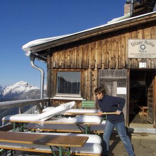 An der Tölzer Hütte. Foto: Lickert/Bubeck