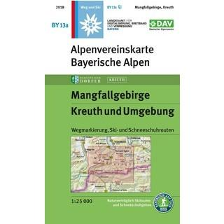 Alpenvereinskarte BY 13 a Mangfallgebirge / Kreuth und Umgebung. Bergsteigerdorf-Sonderausgabe