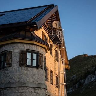 Morgenstimmung am Rotwandhaus, Foto: Axel Klemmer