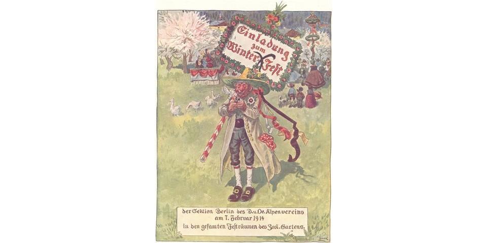 Einladung zum Winterfest der Sektion Berlin, 1914. Archiv des DAV, München