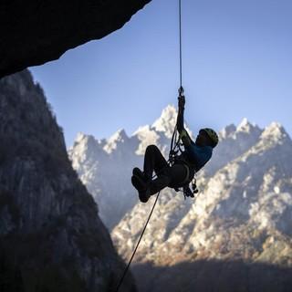 Training mit besten Aussichten auf das Bergell! Foto: DAV / Silvan Metz
