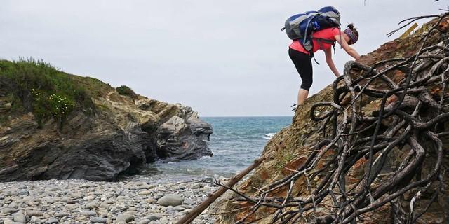 Der Fishermen's Trail bietet auch manch interessante Passage, Foto: Jonas Kassner