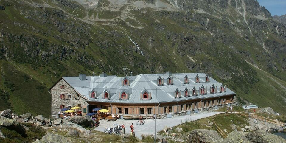 Jamtalhütte im Sommer Foto: Herbert Aupperle, DAV Sektion Böblingen