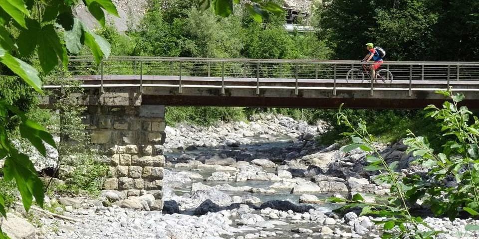 Im Mellental, Brücke kurz vor Mellau