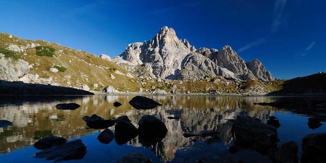 Sextner Dolomiten - Laghi dei Piani & Dreischusterspitze. Foto: Wolfgang Ehn