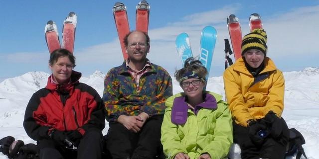 Familie Glasl auf Skitour