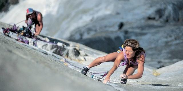 Lynn Hill on the first free ascent of the Nose, El Capitan, Yosemite, USA. Foto: Heinz Zak