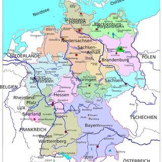 Deutschlandkarte, Foto: pixabay