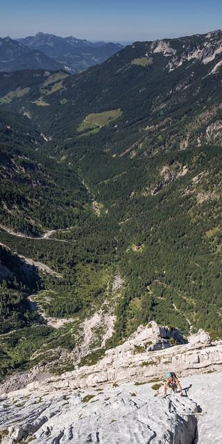 """Die Route """"Via Aqua"""" lässt das Kletterherz mit 1000 Klettermetern im siebten Grad höher schlagen."""