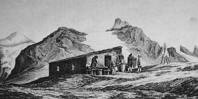 Die Anfänge des Hüttenbaus: Die Stüdlhütte in den 1860er Jahren. Archiv des DAV, München