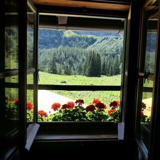 Blick aus dem Schlafraum, Foto: Schneibsteinhaus