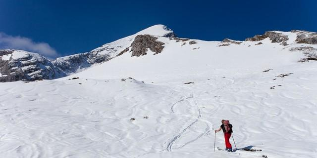 Im Aufstieg zur Alpspitze am Bernadeienrücken. Foto: Markus Stadler