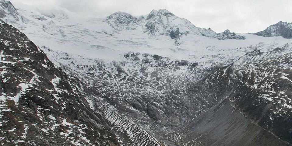 Der Waxeggkees-Gletscher von der Berliner Hütte aus gesehen. Foto: Friedrich