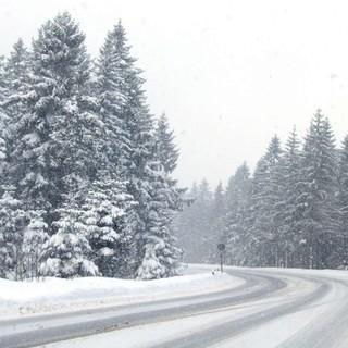 Neuschnee auf der Landstraße - in diesem Januar ein gewohntes Bild, Foto: Rainer Sturm/pixelio.de