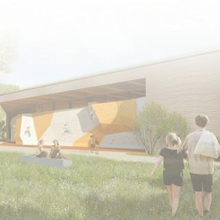 Die geplante neue Boulderhalle in Thalkirchen.