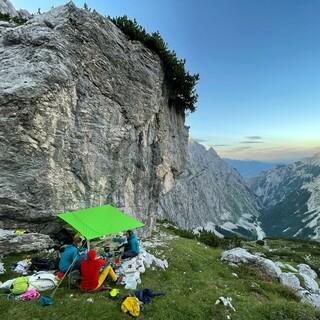 Das Lager am Riffelkopf. Foto: DAV/Expedkader