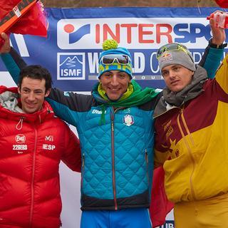 Die Sieger im Individual. 1. Lenzi (ITA),, 2. Jornet (ESP), 3. Palzer (DEU), Foto: Seebacher