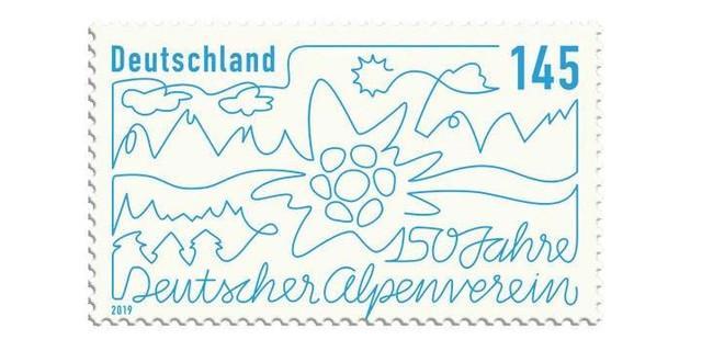 DAV-Jubilaeumsbriefmarke