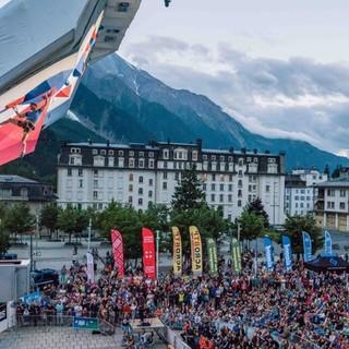 Leadweltcup am Fuße des Mont Blanc. Foto: IFSC/Eddie Fowke