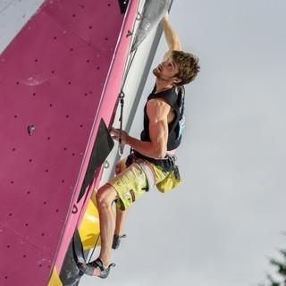 Jan Hojer beim Lead-Weltcup in Villars, Foto: IFSC/Eddie Fowke