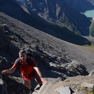 Aufstieg zum Hohen Tenn - Kaum zu glauben, dass durch diese Flanke der Weg zum Hohen Tenn verläuft.
