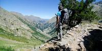 Rückblick vom Muraion-Pass auf den Aufstiegsweg vom Vallone Moncolomb. Foto: Joachim Chwaszcza