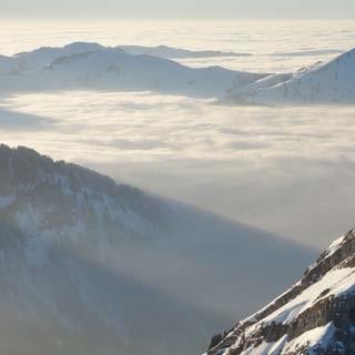 Kanisfluh - Die Kanisfluh ist der beherrschende Berg des Bregenzerwalds und bietet freien Blick übers Rheintal.